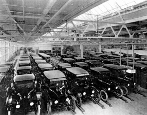 Model-T Ford Assembly Line