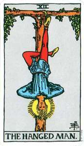 Ryder-Waite Hanged Man card