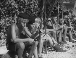"Lord of the Flies ""team,"" from the film directed by Peter Brook, 1963"