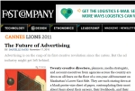 The Future of Advertising, Fast Company